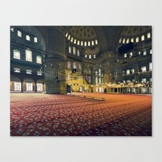 inside the Blue Mosque in istanbul Canvas Print