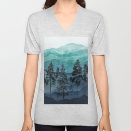 Mountains II Unisex V-Neck