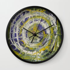 Earth Goddess Abstract Art Wall Clock