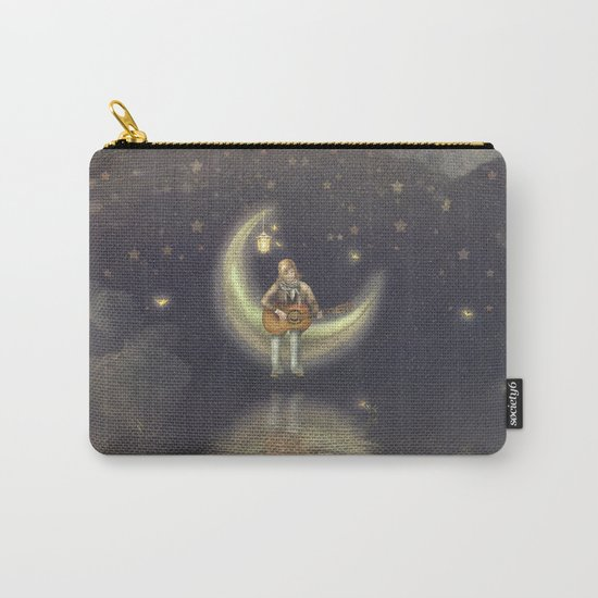 Story about boy who play guitar on moon Carry-All Pouch