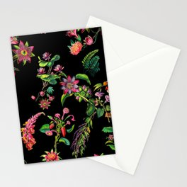 Vintage Bright Color Flowers Stationery Cards