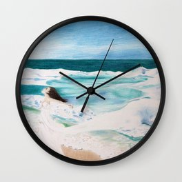 Day at the Sea Wall Clock