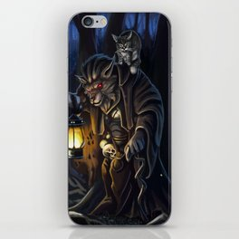 Through the night forest iPhone Skin