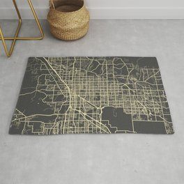 Tucson Map yellow Rug