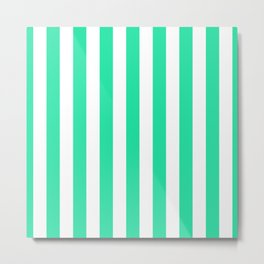 SeaMint Vertical Tent Stripes Florida Colors of the Sunshine State Metal Print