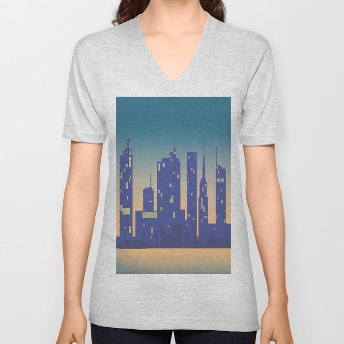 Night City Unisex V-Neck