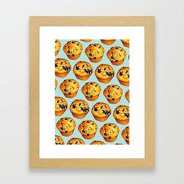 Blueberry Muffin Pattern Framed Art Print