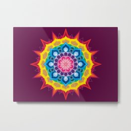 Mandala- Spectrum Lotus Metal Print