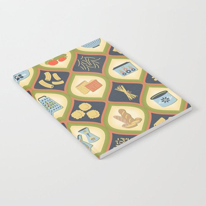 Pasta Fun Pattern Notebook