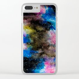 Cotton Candy Galaxy Clear iPhone Case