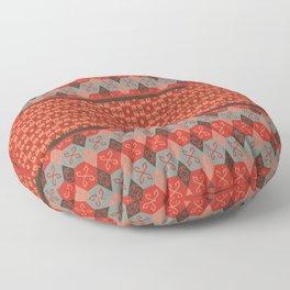 Bohemian Oriental Kilim Motif Pattern Quilt Floor Pillow