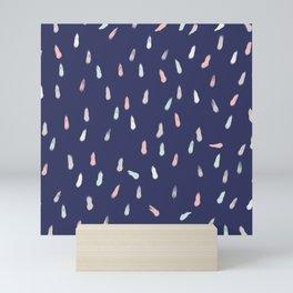 Abstract Retro Raindrops Ijiraq Mini Art Print