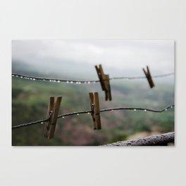 Clothespin Canvas Print