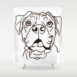 The Boxer Dog Love of my Life Shower Curtain