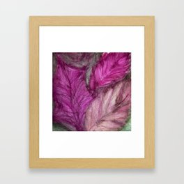 Falling Memories - Shades of Purple, Rose, and Grey Framed Art Print