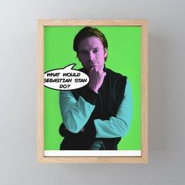 What Would Sebastian Stan Do? Framed Mini Art Print