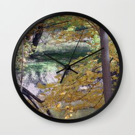 Fall By The Creekside Wall Clock