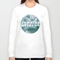 vampire weekend Long Sleeve T-shirts featuring Vampire Weekend by Elianne