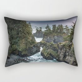 Oregon's Natural Bridges at sunset Rectangular Pillow
