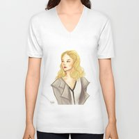 moriarty V-neck T-shirts featuring elementary: moriarty by roanne Q