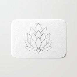 Silver Foil Lotus Flower Bath Mat