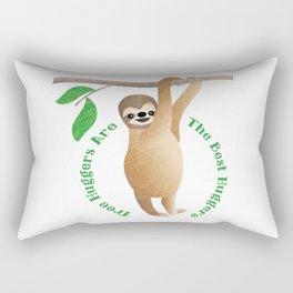 Tree Hugger Sloth Rectangular Pillow