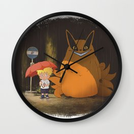 My Neighbor Kurama Wall Clock