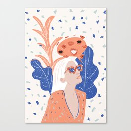 Thinkin About Kissin You Canvas Print