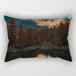 Mountain Lake (Color) Rectangular Pillow