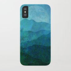 Blue Abstract Landscape iPhone X Slim Case