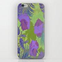 hawaiian iPhone & iPod Skins featuring Hawaiian Purple by ALLY COXON