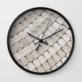 Pattern stone pavement Wall Clock