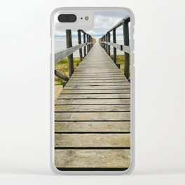 To the very end - Lake Winnipeg, Manitoba Clear iPhone Case