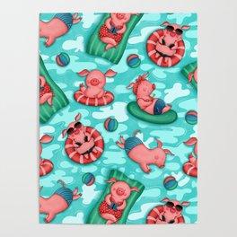 Summer Lovin' Pigs Poster
