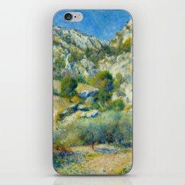 "Auguste Renoir ""Rocky Crags at L'Estaque"" iPhone Skin"