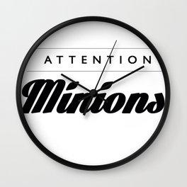 Attention Minions Wall Clock