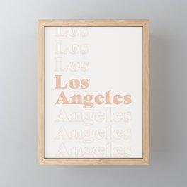 Los Angeles Type - Pink Framed Mini Art Print