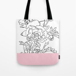 VESSEL - Floral Ink in Pink - Cooper and Colleen Tote Bag