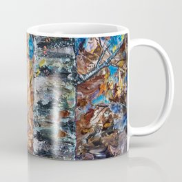 Birch Trees with Palette Knife by OLena Art for @society6 Coffee Mug