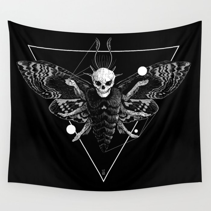 God Moth Wall Tapestry