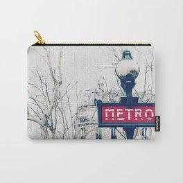 Paris Metro Sign Carry-All Pouch