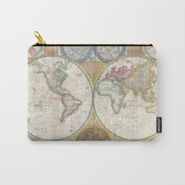 Map of the World in Hemispheres Carry-All Pouch