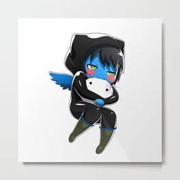 Fuzzy Chibi Luc (Expression 2) (no cloud) Metal Print