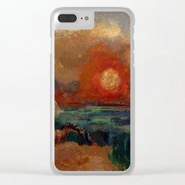 "Odilon Redon ""Saint George and the Dragon (Saint Georges et le dragon)"" Clear iPhone Case"