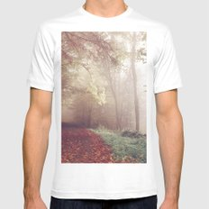 LOST IN THE PATH Mens Fitted Tee MEDIUM White