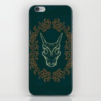 charizard iPhone & iPod Skins featuring Charizard Skull by Kayla Catherine Illustration