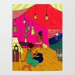 Witch Tent Poster