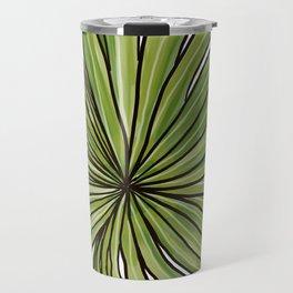 Digital Water Color Palm Frond Design Travel Mug