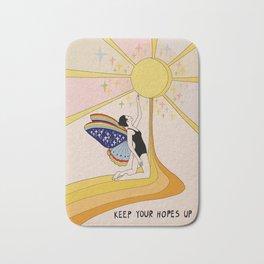 Keep your hopes up Bath Mat