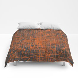 Indianapolis map Comforters